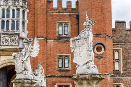 Hampton Court in summer day, UK Stock Photo