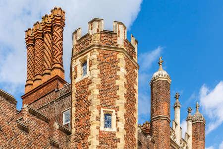 Hampton Court in summer day, UK Stock Photo