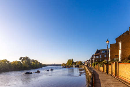 Low tide on Thames, Chiswick, London