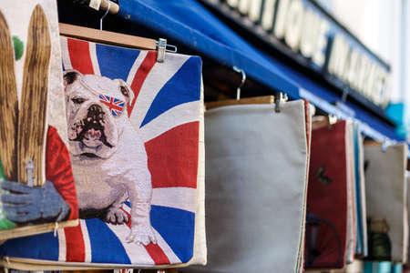 market place: Portobello market in winter, London