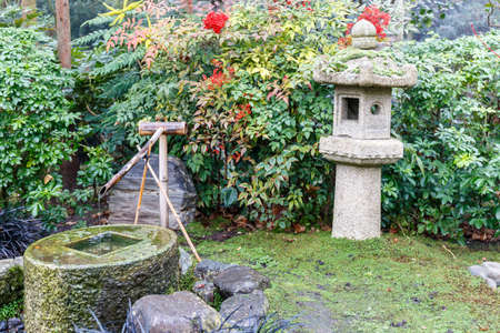 Japanese Kioto garden in winter, London