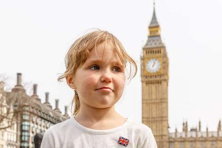 School girl with Big Ben