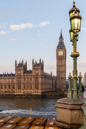 House of Parliament in early winter morning, London Stock Photo