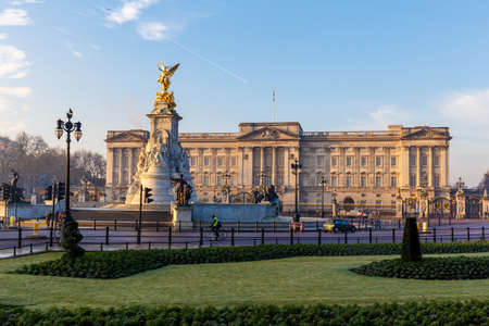 Buckingham palace in early winter morning, London