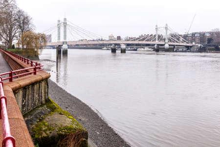 Adolphe bridge in winter, London