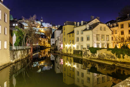 Grund in the night, Luxembourg