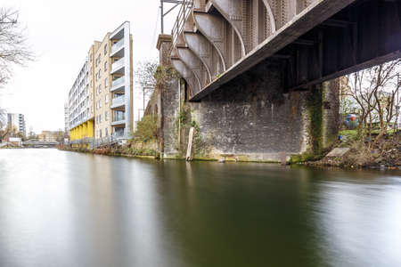 Regents canal at long exposure in winter, London