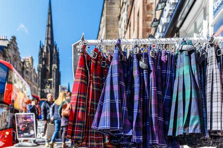 Tartan cloth in Edinburgh, Scotland