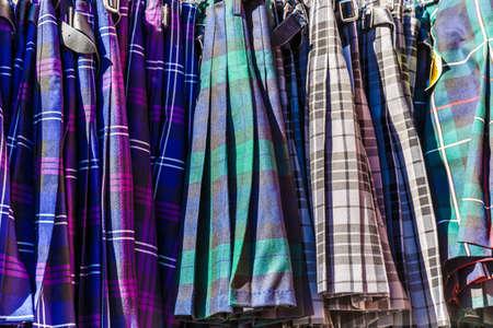 clan: Tartan cloth in Edinburgh, Scotland