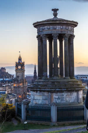 princes street: View from Calton Hill, Edinburgh, Scotland