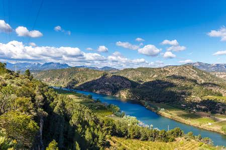 ebro: Landscape with river Ebro in Spain