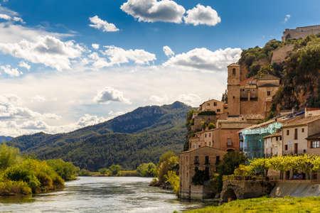Rural town Miravet in Catalania, Spain Stock Photo