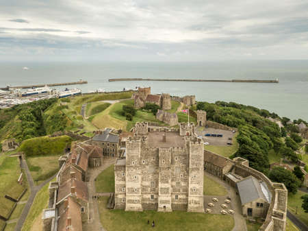 Aerial view of Dover Castle, England