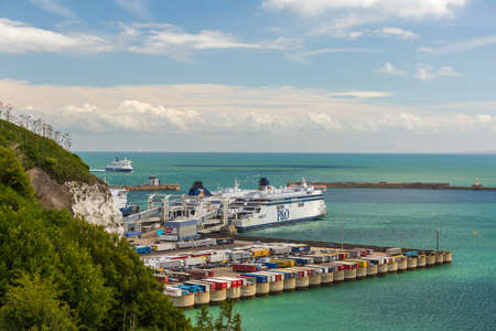 View on English channel from Dover port, England