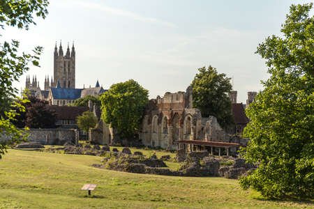 Canterbury view in summer, Kent, England Stock Photo