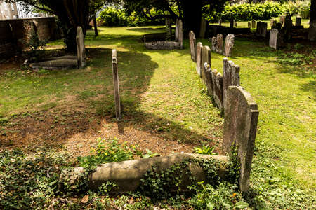 Skull decoration of tomb stone, England