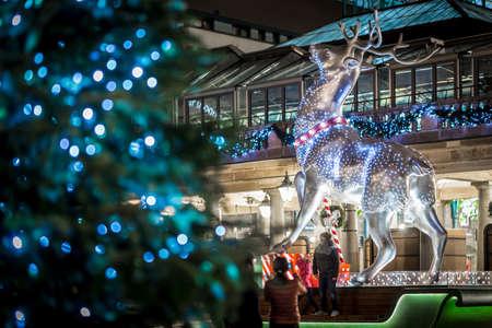 Covent garden deer in Christmas time, London