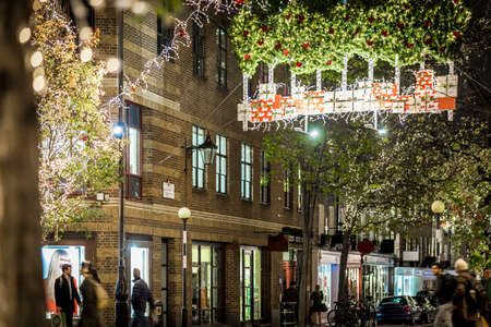 Seven dials at Christmas time in London Editorial
