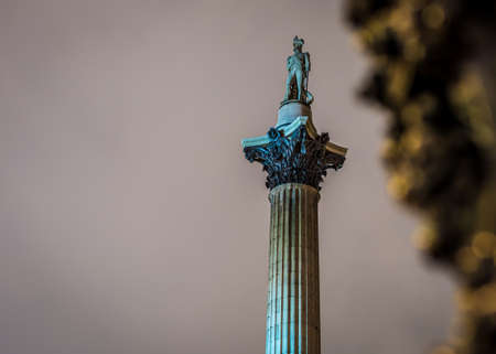 Nelson's Column in Trafalgar Square, London, UK