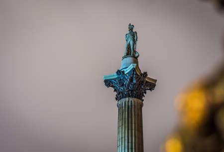 Nelsons Column in Trafalgar Square, London, UK Stock Photo
