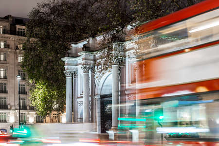 Marble arch in London in Christmas time Stock Photo