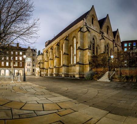 Temple of London in the night Stock Photo