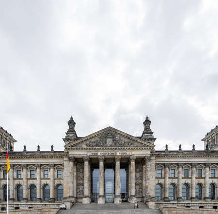 View of Reichstag in summer day, Berlin