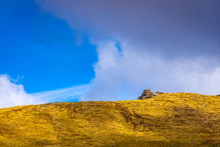 View of View of Jacob's ladder in Peak district, an upland area in England at the southern end of the Pennines, UK