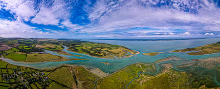 Aerial panoramic view of Newtown of isle of Wight, UK