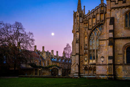 The sunset view of cathedral of Ely, a city in Cambridgeshire, England, UK
