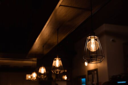 Pendant burning lights for interior decoration.