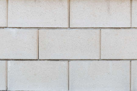 Abstract background from white brick pattern wall. Brickwork texture surface for background. Textured