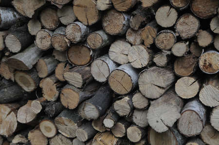 Sawed wood for heating stoves and fireplaces.