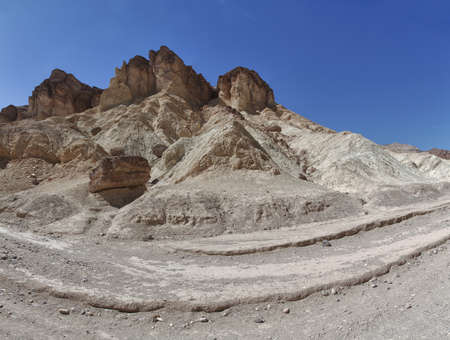 panoramic view of rocks in death valley national park Stock Photo