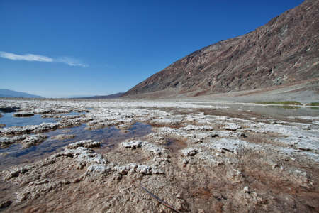 view of the salt lake in death valley national park photo