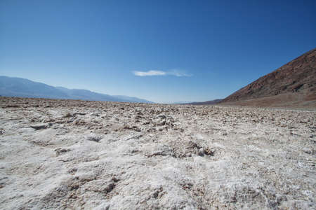 view of the lake of salt in death valley national park, california photo