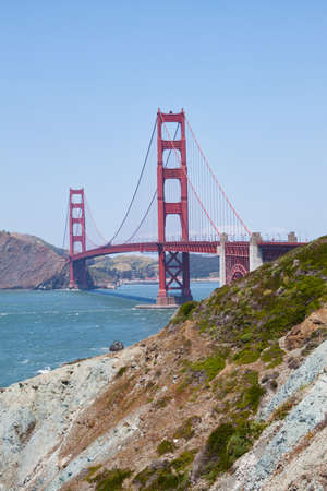 view of the golden gate bridge in San Francisco, California in summer photo