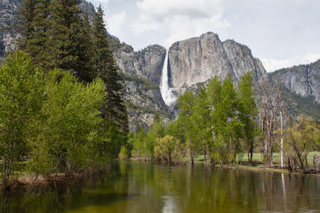 view of waterfall in yosemite national park, california, usa photo