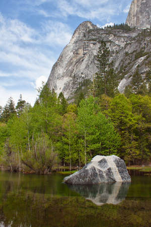 view of the river in yosemite national park, california, usa photo