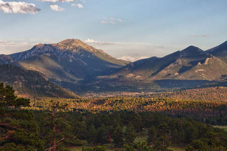 overlook: Rocky Mountains National Park overlook, summer