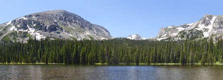 Ouzel lake Lake in Rocky Mountains in summer Stockfoto