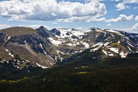 Rock Cut mountains seen from Trail Ridge Road, Rocky Mountains, Colorado photo