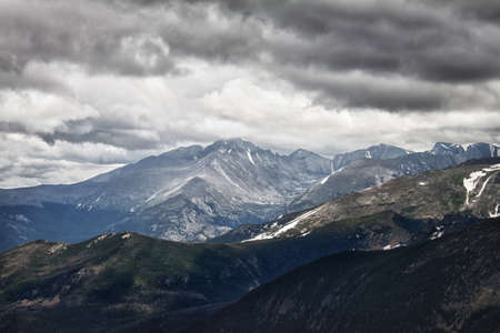 Storm at Longs Peak in Rocky Mountains, Colorado photo