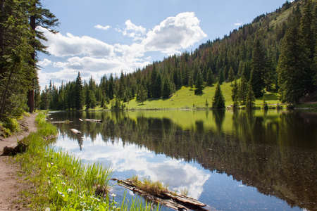 Lake Irene in Rocky Mountains, Colorado, USA in summer photo