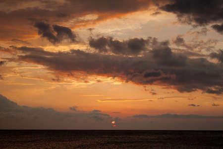 sunset in the ocean Hawaii