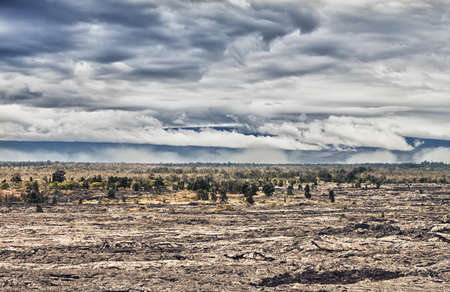 vast lava prairie and clouds