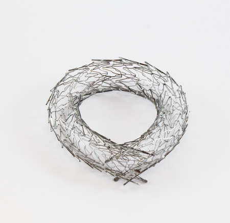 open-cell nitinol stent for endovascular surgery shaped into a circle Stock Photo - 15925984
