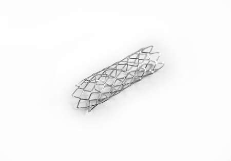 mesh metal balloon-expandable stent for endovascular surgery Stock Photo - 15925855