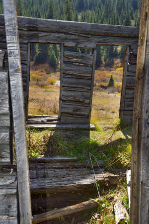 ghost town in Colorado during fall