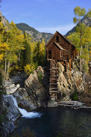 Abandoned Crystal Dead Horse Mill in Colorado during fall